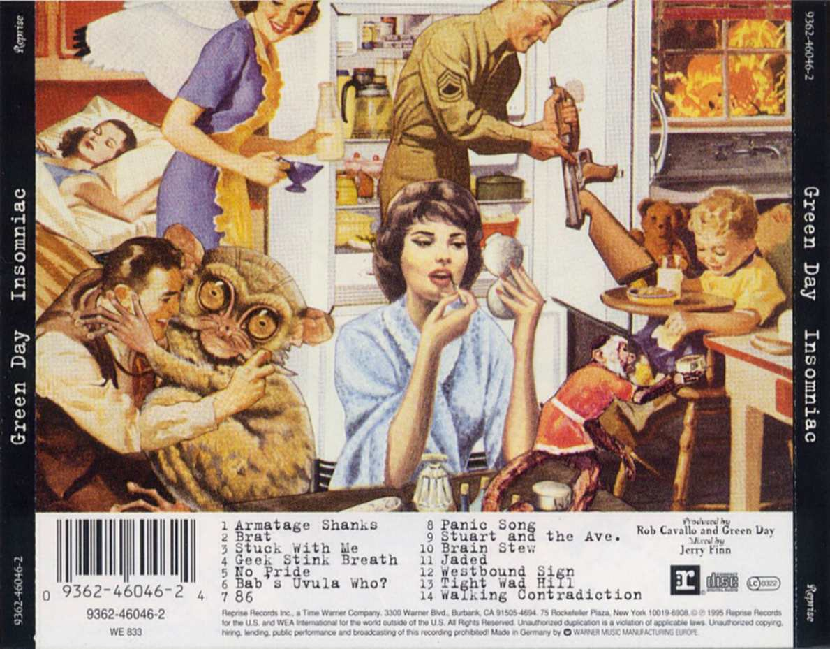 Pin Green Day Kerplunk Insomniac Nimrod Wallpaper Tiled on ...