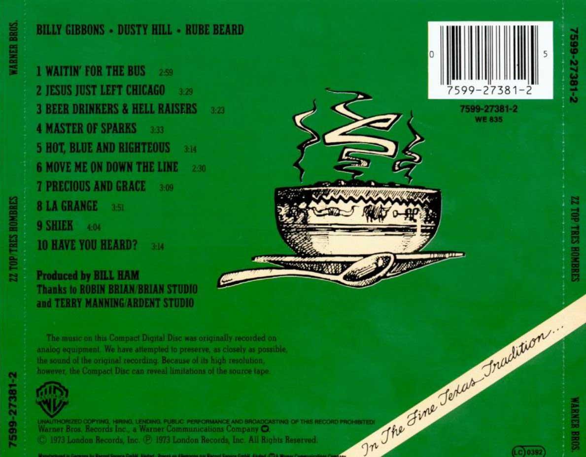 Tres Hombres - 1973 back